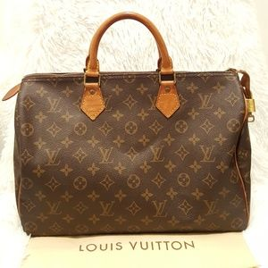 100% Auth Louis Vuitton Speedy 35 w/ Lock & Key